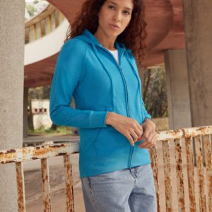 Felpa donna lightweight hooded sweat jacket
